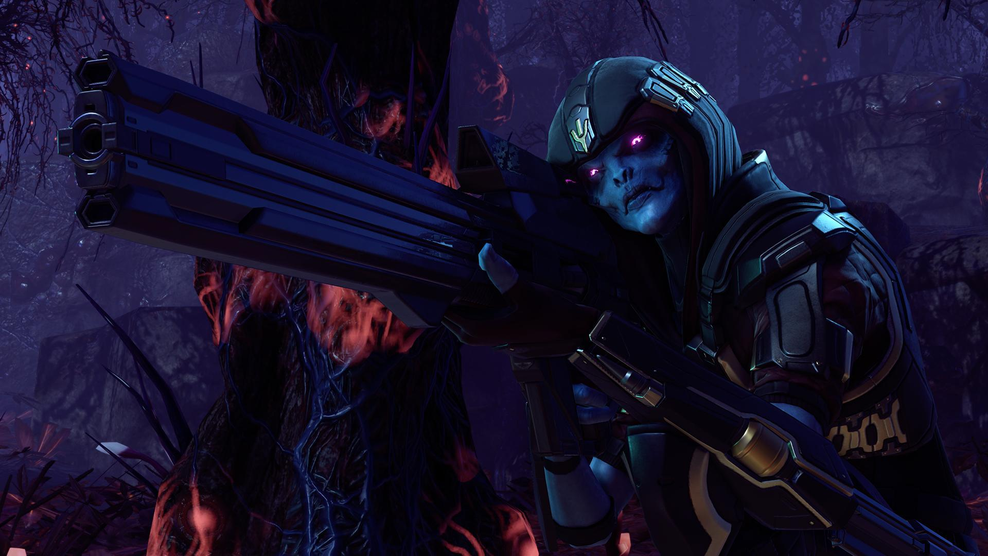 Screenshot of the XCOM 2 DLC, called XCOM 2: War of the Chosen.