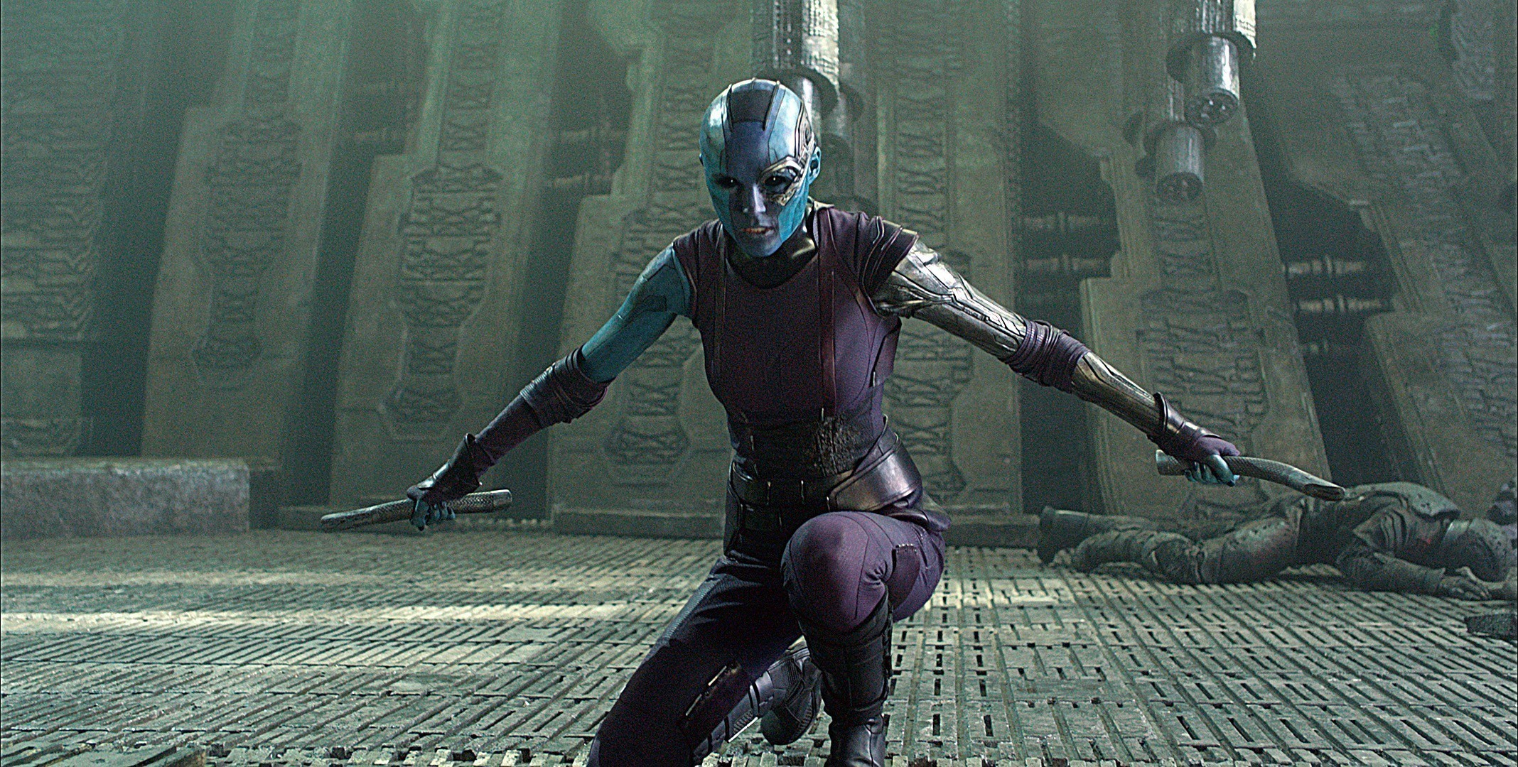Nebula is one of the daughters of Thanos, and she has the skills to back up that fearsome reputation. But while she served her father faithfully in the original Guardians of the Galaxy, Nebula has since mended fences with her sister, Gamora, and tasked herself with ending the reign of the Mad Titan.